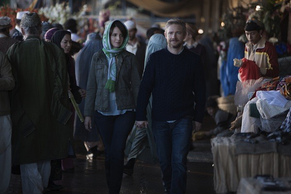 Tina Fey and Martin Freeman in Whiskey Tango Foxtrot (Photo: Paramount)
