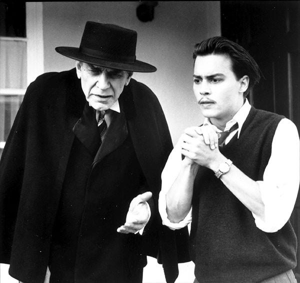 Martin Landau and Johnny Depp in Ed Wood. (Buena Vista)