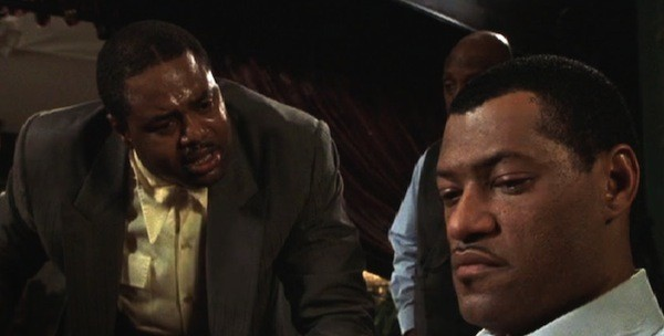 Chi McBride and Laurence Fishburne in Hoodlum (Photo: Olive Films)