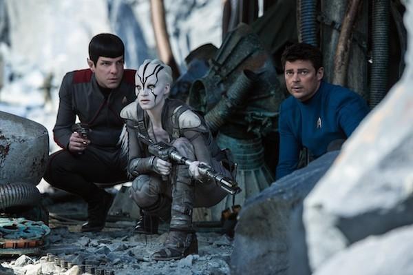 Zachary Quinto, Sofia Boutella and Karl Urban in Star Trek Beyond (Photo: Paramount)