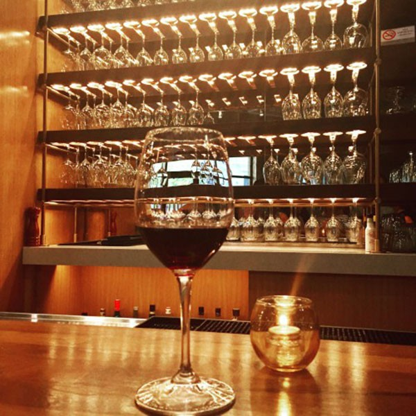A glass of wine from Corkbuzz. (Photo by Chrissie Nelson)