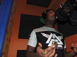 JayWay Sosa at a recent studio session at Queen City Basement. - RYAN PITKIN