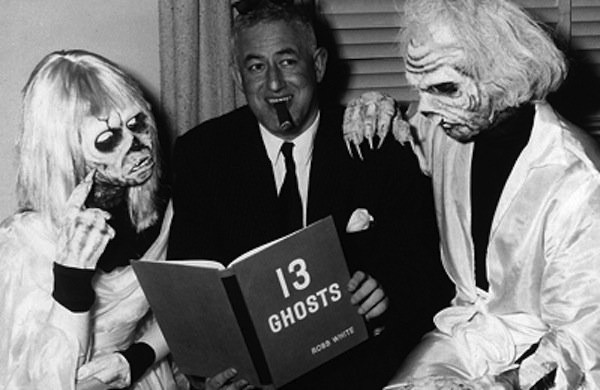 William Castle on the set of 13 Ghosts (Photo: Sony)