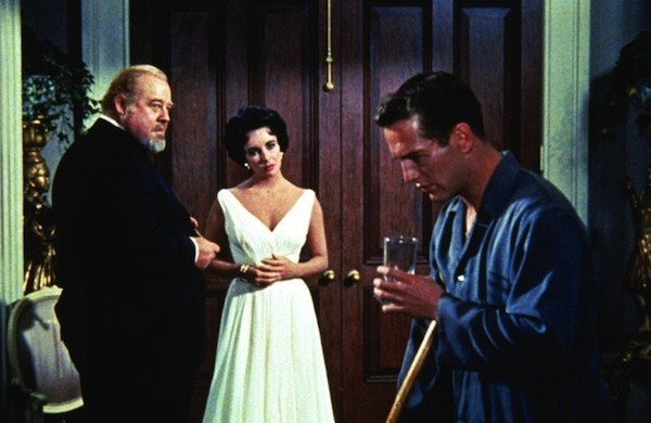 Burl Ives, Elizabeth Taylor and Paul Newman in Cat on a Hot Tin Roof (Photo: Warner)