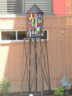 Lauren Puckett's stained-glass tower at Mercury NoDa. For more of Will and Lauren's work, check out the slideshow attached to this story. - RYAN PITKIN