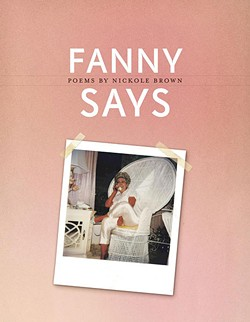 The cover of Nickole Brown's Fanny Says.