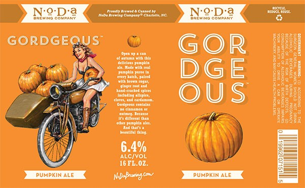 Label for NoDa Brewing Company's popular Gordgeous.