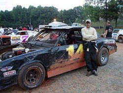 Jamie Starks with the Tommy's Pub street stock car he drove in 2007.