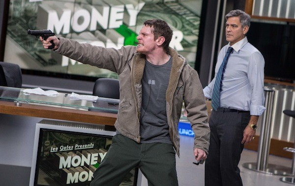 Jack O'Connell and George Clooney in Money Monster (Photo: TriStar)