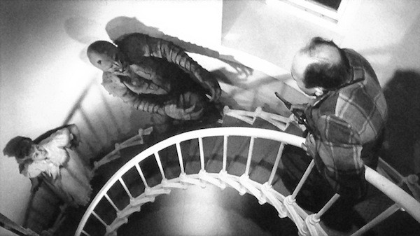 Jeanne Carmen and John Harmon in The Monster of Piedras Blancas (Photo: Olive Films & Paramount)