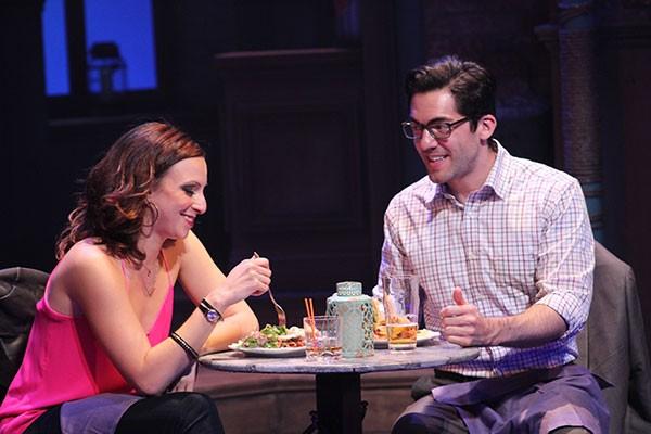 Katerina Papacostas and Matthew Schatz in First Date. - DANIEL COSTON