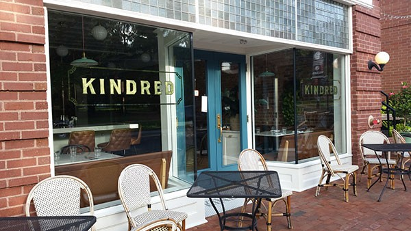 The exterior of Kindred in Davidson (Critics' Best Reason to Drive on I77 NB)