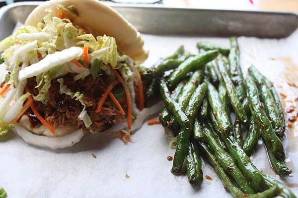 Chow bao taco w/ barbecue at Improper Pig (Critics' Best Barbecue Joint With An Asian Twist)