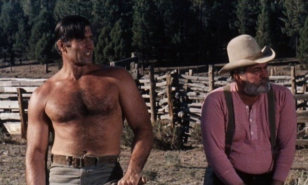 Clint Walker and Don Haggerty in The Night of the Grizzly (Photo: Olive Films & Paramount)
