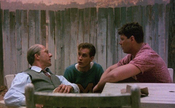 Dustin Hoffman, John Malkovich and Stephen Lang in Death of a Salesman (Photo: Shout! Factory)