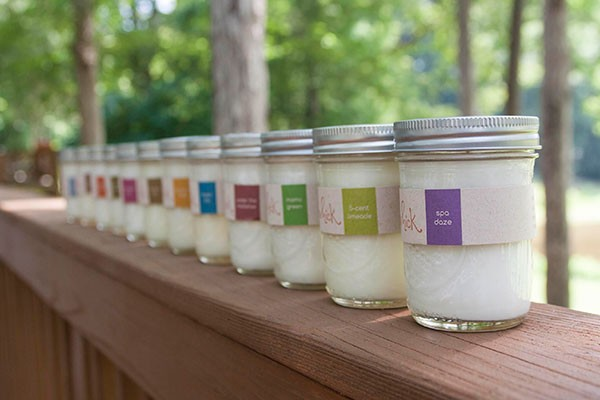 Assortment of candles from Light Your Whick