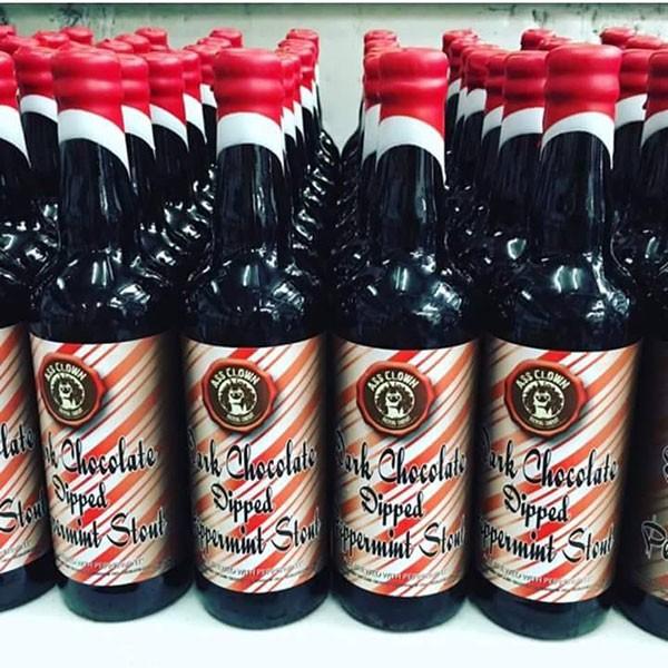 Dark Chocolate Dipper Peppermint Stout from Ass Clown Brewing Company
