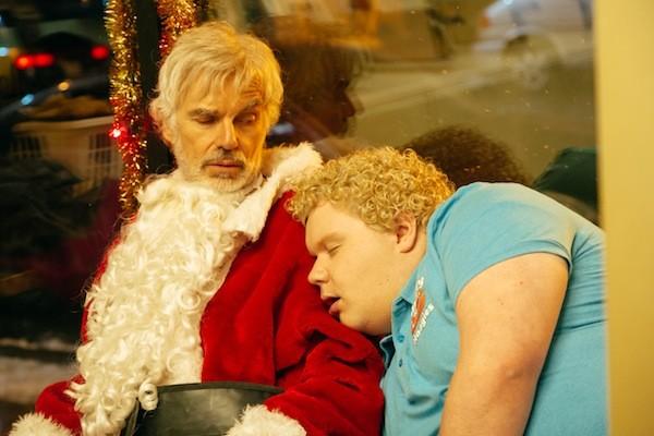 Billy Bob Thornton and Brett Kelly in Bad Santa 2 (Photo: Broad Green)