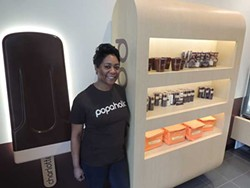 Kia Lyons at the recently opened Popbar. - RYAN PITKIN