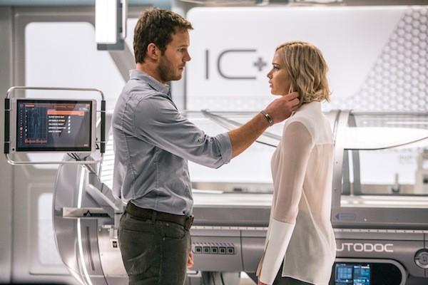 Chris Pratt and Jennifer Lawrence in Passengers (Photo: Columbia)