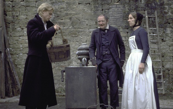Charlie Hunnam, Jim Broadbent and Juliet Stevenson in Nicholas Nickleby (Photo: Twilight Time)