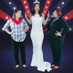 Glynnis O'Donoghue, Katherine Drew and Donna Scott star in Lauren Gunderson's The Taming. - WELDON WEAVER