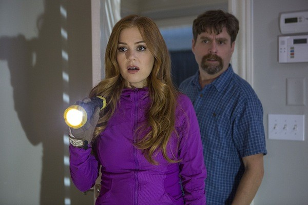 Isla Fisher and Zach Galifianakis in Keeping Up with the Joneses (Photo: Fox)