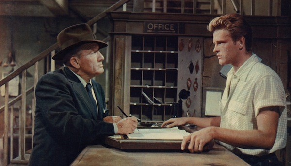 Spencer Tracy and John Ericson in Bad Day at Black Rock (Photo: Warner)