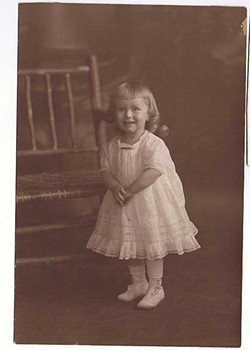 Mary Virginia Federal as a toddler