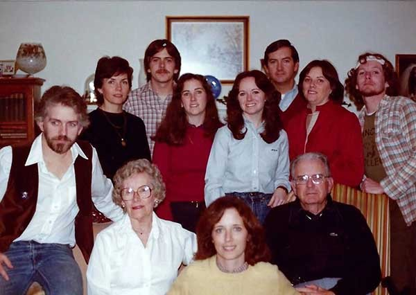 The Federal Army in the late 1970s (clockwise, from left): Michael, Ann, Mark, Joan, Marian, Keegan Jr., Molly, Lenny, Keegan Sr., Kathleen, and Mary Virginia Federal.