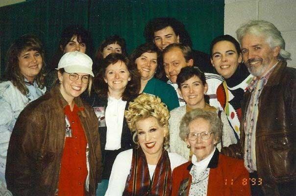The Federals with the Divine Miss M -- Bette Midler -- in 1993. Michael played in her band in the 1970s