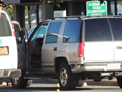 The vehicle being driven by the man who was killed showed visible damage to the back-left fender. - RYAN PITKIN