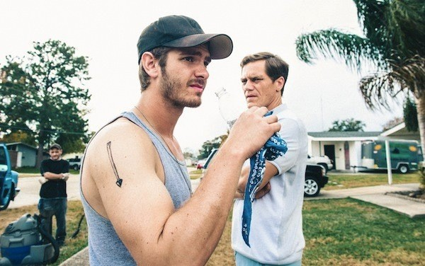 Andrew Garfield and Michael Shannon in 99 Homes (Photo: Broad Green Pictures)