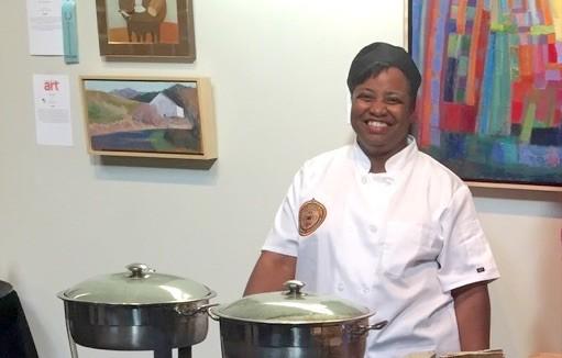 Gwen Square cooks it up. - PHOTO BY DEBRA RENEE SETH