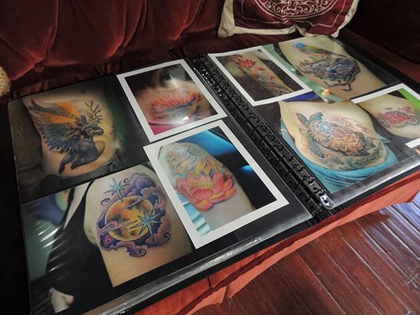 Looking through some of Moran's past work. - MELISSA MCHUGH