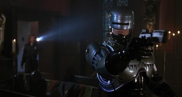 Nancy Allen and Robert John Burke in RoboCop 3 (Photo: Shout! Factory & MGM)
