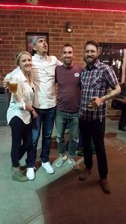 [From left] Kristi Drake, Joe Gillespie, JD Harris and Robert Wildermuth.