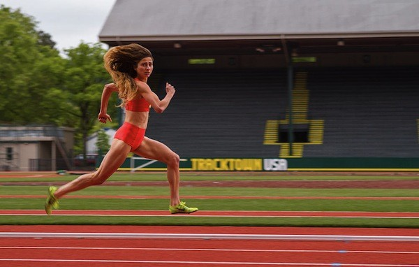 Alexi Pappas in Tracktown (Photo: Samuel Goldwyn)