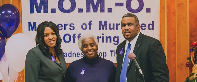 [From left] Mothers of Murdered Offspring volunteer Lisa Crawford with founders Judy Williams and David Howard. - PHOTO COURTESY OF MOTHERS OF MURDERED OFFSPRING.