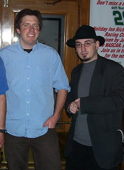 Valencia with fellow funnyman Joe Zimmerman (left) in 2006.