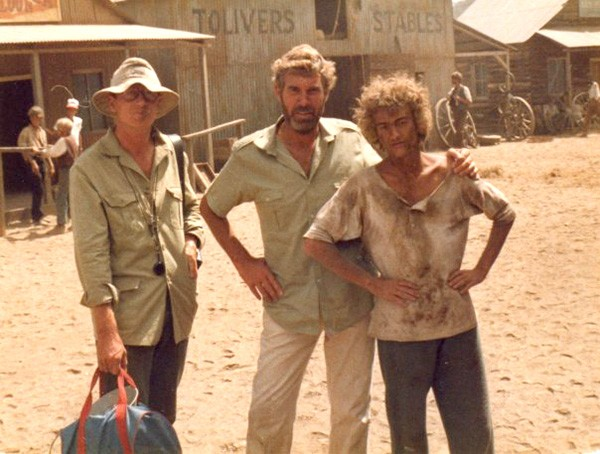 Always fascinated with film: Brunson (right) was an extra in the miniseries Master of the Game while still in high school in Kenya, in 1983.