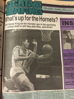 Sports writer Tannenbaum was onto the Hornets in CL's early days.