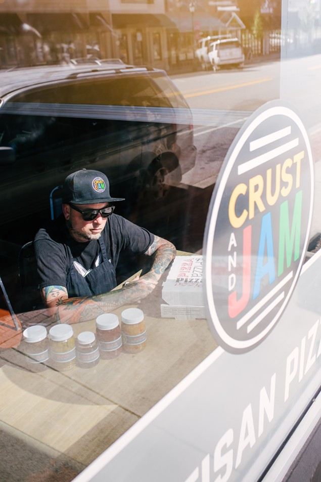 Donnie Simmons at his first venture, Crust and Jam, which opens on Friday, May 12, at 12 p.m.