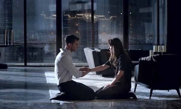 Jamie Dornan and Dakota Johnson in Fifty Shades Darker (Photo: Universal)