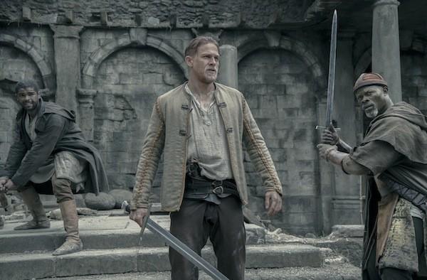 Kingsley Ben-Adir, Charlie Hunnam and Djimon Hounsou in King Arthur: Legend of the Sword (Photo: Warner)
