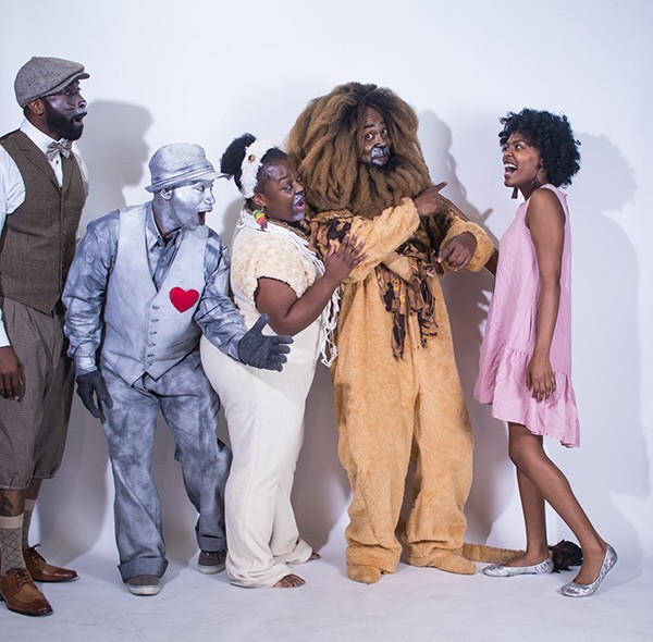 "From left: Kineh N'gaojia as Miles, Elijah Ali as Tin man,  Ruby Edwards as LaDawn, Tony Massey as Lion and Nailyah Gardner as Dorothy. Photo by Josh ""J Sweat"" Nwakerendu."