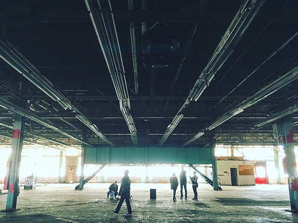 The massive spaces at CAMP North End are ripe for innovative ideas. Photo by Michael O'Neill.