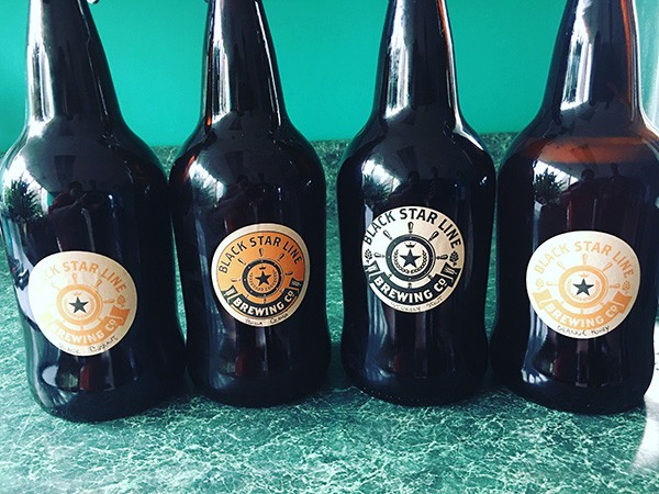 A lineup of Black Star Line brews.