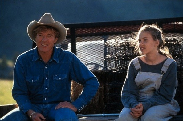 Robert Redford and Scarlett Johansson in The Horse Whisperer (Photo: Disney)