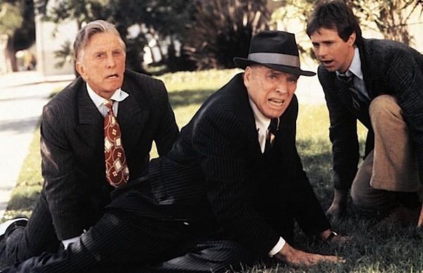 Kirk Douglas, Burt Lancaster and Dana Carvey in Tough Guys (Photo: Kino)
